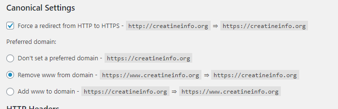 "Under Canonical Settings change the preferred domain to ""Remove www from domain"". It's also probably a good idea to force http to https while your at it too."